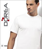 Белая мужская футболка с коротким рукавом, бесшовная
