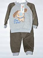 Костюм байковый для мальчика 1-3 года Puppy хаки