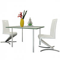 Набір 2 білих крісла для вітальні / кухні