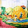 """Платок женский шелковый 86*87 см ETERNO, репродукция картины Поля Гогена """"Золотой урожай"""" ES0309-19"""