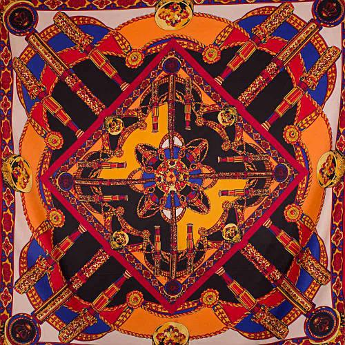 Яркий женский атласный платок размером 102*102 см ETERNO (ЭТЕРНО) ES0406-3-1