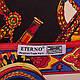 Яркий женский атласный платок размером 102*102 см ETERNO (ЭТЕРНО) ES0406-3-1, фото 3