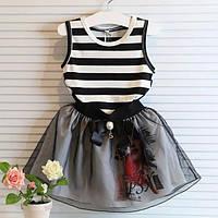 Детское платье  тельняшка