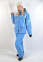 Зимний лыжный женский костюм SPYDER original - голубого цвета