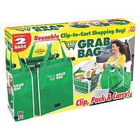 Прочная, вместительная сумка для покупок (2 в 1) Grab Bag в комплекте 2 шт