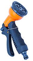 Пистолет-распылитель для полива растений  (8-ми функциональный  пластиковый)