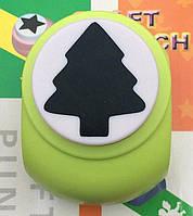 Дырокол фигурный Елка 3,8 см кнопка