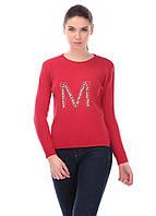 Шерстяная кофта красного цвета, фото 1