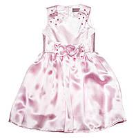Нарядное детское платье №15-409 (розовый, р.98-128)