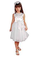 Нарядное детское платье с бантом (р.98-128)