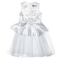 Нарядное детское платье №15-408 (белый, р.98-128)