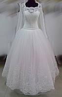"""Свадебное платье """"16-03"""" (юбка - высокая вышивка)"""