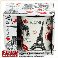 """Чашка """"Paris"""" (Париж) керамическая (кружка) в подарочной упаковке"""