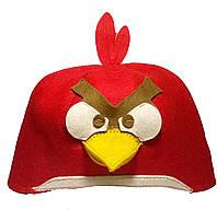 Шапка для сауны и бани злая птичка (angry birds)
