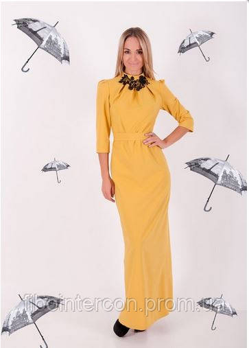 Желтое вечрнее платье киев