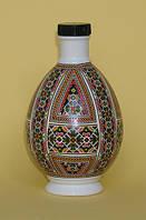 """Писанка """"Весёлая"""", графин (бутылка), фарфор, 0,25л"""