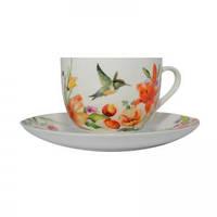 Чашка чайная с блюдцем Colibri 230 мл Krauff