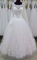 """Свадебное платье """"16-04"""" (юбка - высокая вышивка)"""