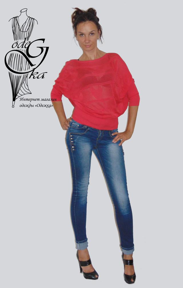 """Фото-2 Джемпера женского акрилового с рукавом """"летучая мышь"""" Диана SvDn02"""