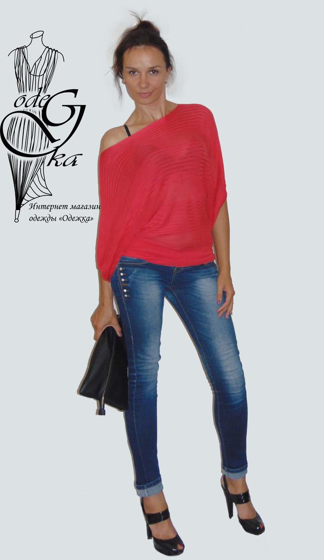 """Фото Женского модного свитера с рукавом """"летучая мышь"""" Бритни SvBr415"""