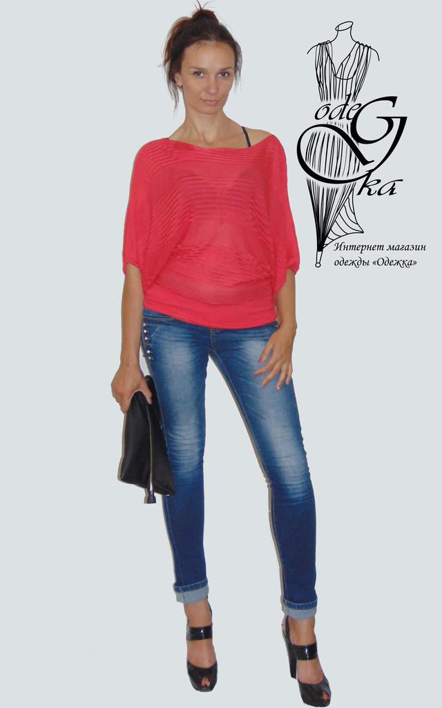 """Фото-2 Женского модного свитера с рукавом """"летучая мышь"""" Бритни SvBr415"""