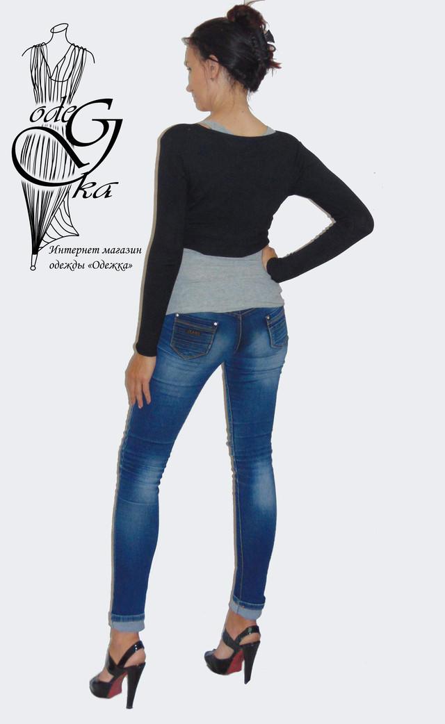 Фото-2 Кофты женской балеро с длинным рукавом на пуговках Кити SvBr379