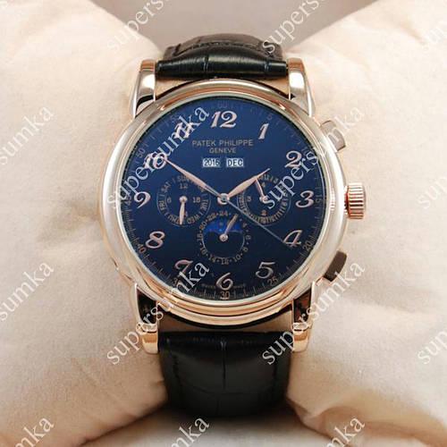 Стильные наручные часы Patek Philippe Geneve Gold/Black 1953