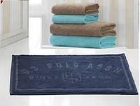 Набор: полотенца 4шт. + коврик для ванной U.S. Polo Assn BRADENTON кофейный/голубой