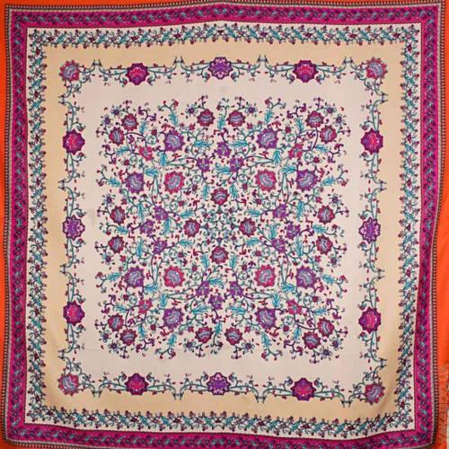 Женский оригинальный атласный платок размером 100*100 см ETERNO (ЭТЕРНО) ES0406-3-12