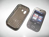 Чехол силиконовый Samsung GT-B5722 cерый