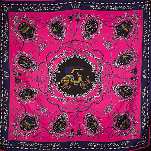 Яркий женский атласный платок размером 101*100 см ETERNO (ЭТЕРНО) ES0406-3-15