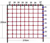 Сетка для лазанья 200 x 210 см для детских игровых комплексов