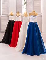 Вечернее платье (2) для выпускных вечеров и свидетельниц (цвет - синее, 42-44)