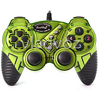 Игровой джойстик, геймпад USB X-senze 988 для ПК зелёный