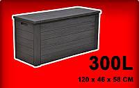 Контейнер / ящик з кришкою садовий 300л.