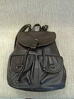 Рюкзак-сумка коричневый из кожзама, повседневный (Турция)
