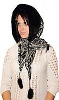 Оригинальный женский норковый капор цвет черный