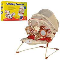 Детский шезлонг-качалка 2 в 1 Cradling Bouncer