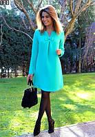 Платье ментоловое с бантиком  ндев120
