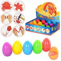 6 шт. - Жвачка для рук набор в яйцах прыгающая игрушка Silly Hand Gum toy bouncing gum (умный пластилин)