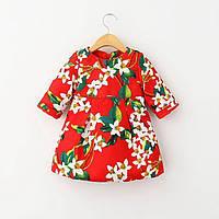 Детское платье Лилии, красного цвета