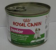 Консервированный корм для собак Роял Канин ЮНИОР, 195гр.