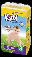 Детские подгузники Kidi midi 3 (4-9 кг)40 шт