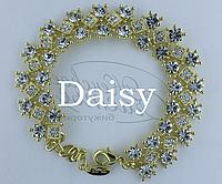 Браслет золотистый с кристаллами Swarovski