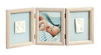 Рамка для слепков ручек и ножек Baby art Double Print Frame Stormy, винтаж