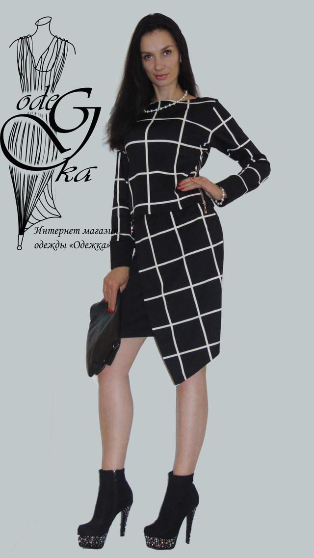 Фото Модного стильного костюма двойки с асимметричной юбкой Париж KsPrG66