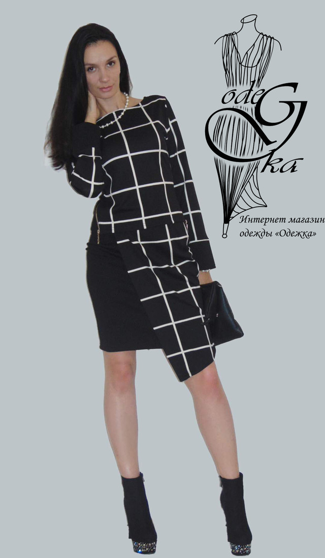 Фото-1 Модного стильного костюма двойки с асимметричной юбкой Париж KsPrG66