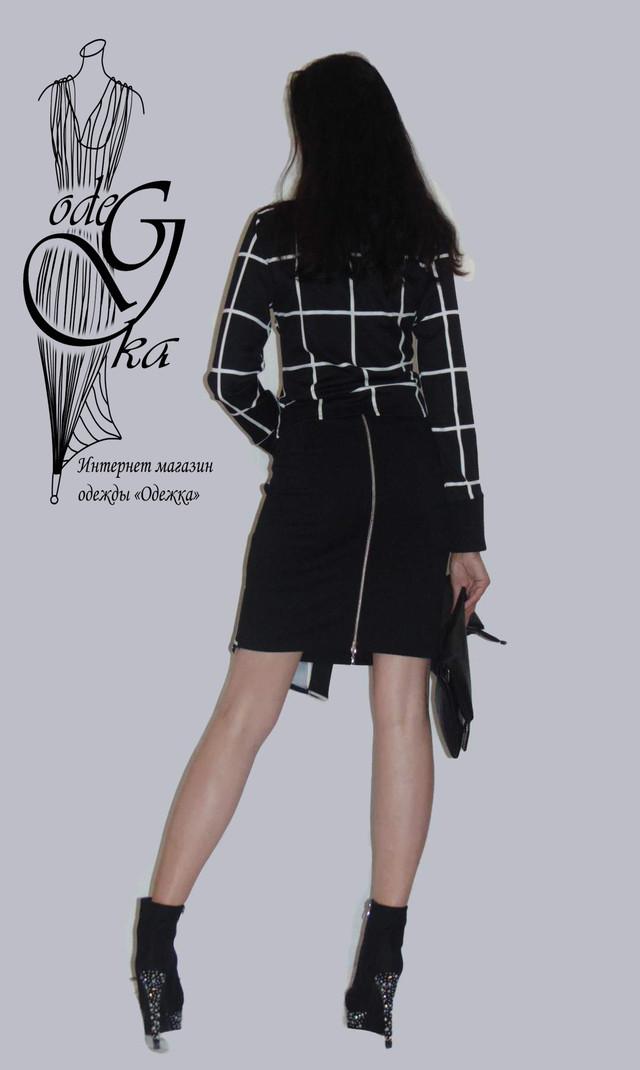 Фото-2 Модного стильного костюма двойки с асимметричной юбкой Париж KsPrG66