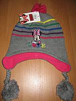 Детская шапка осень-зима Минни маус Sun City р.52, 54