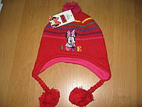 Детская шапка осень-зима Минни маус р. 52, 54, подкладка флис